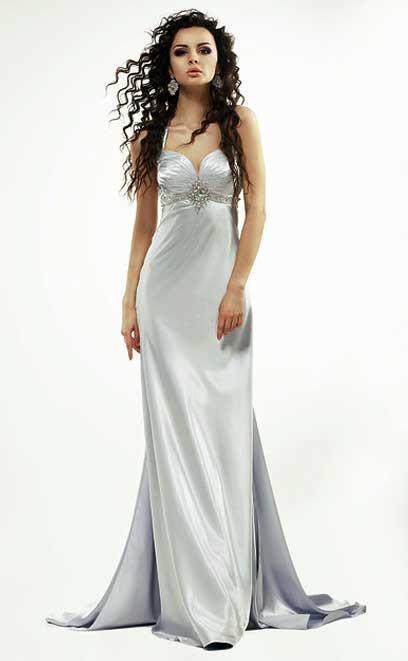 ᑕ❶ᑐ Kleid Silber +++ Damen Kleider